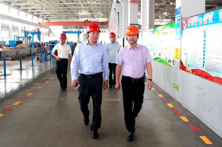 2018年5月25日,北京航天科工一院副院长史红卫、南大科技董事长韩平等领导来公司参观
