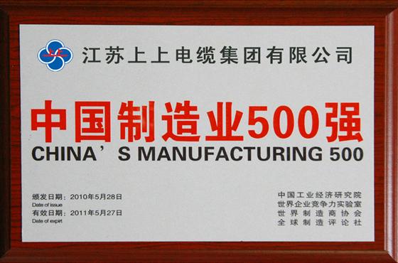 中国制造业500强