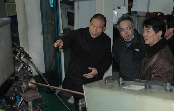 江苏省经贸委、中国船级社南京分社领导来上上集团考察