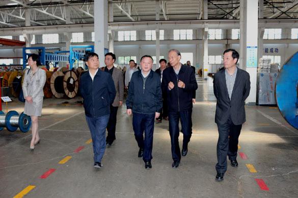 4月23日,常州市科教城党工委书记徐光辉一行来上上电缆参观