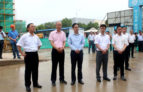 市领导调研上上电缆年产百万公里特种电缆项目